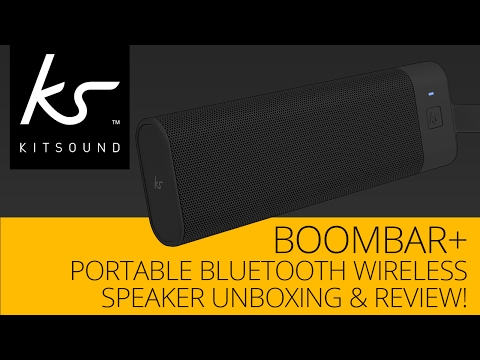 KitSound BoomBar+ Portable Bluetooth Wireless Speaker Unboxing & Review! -