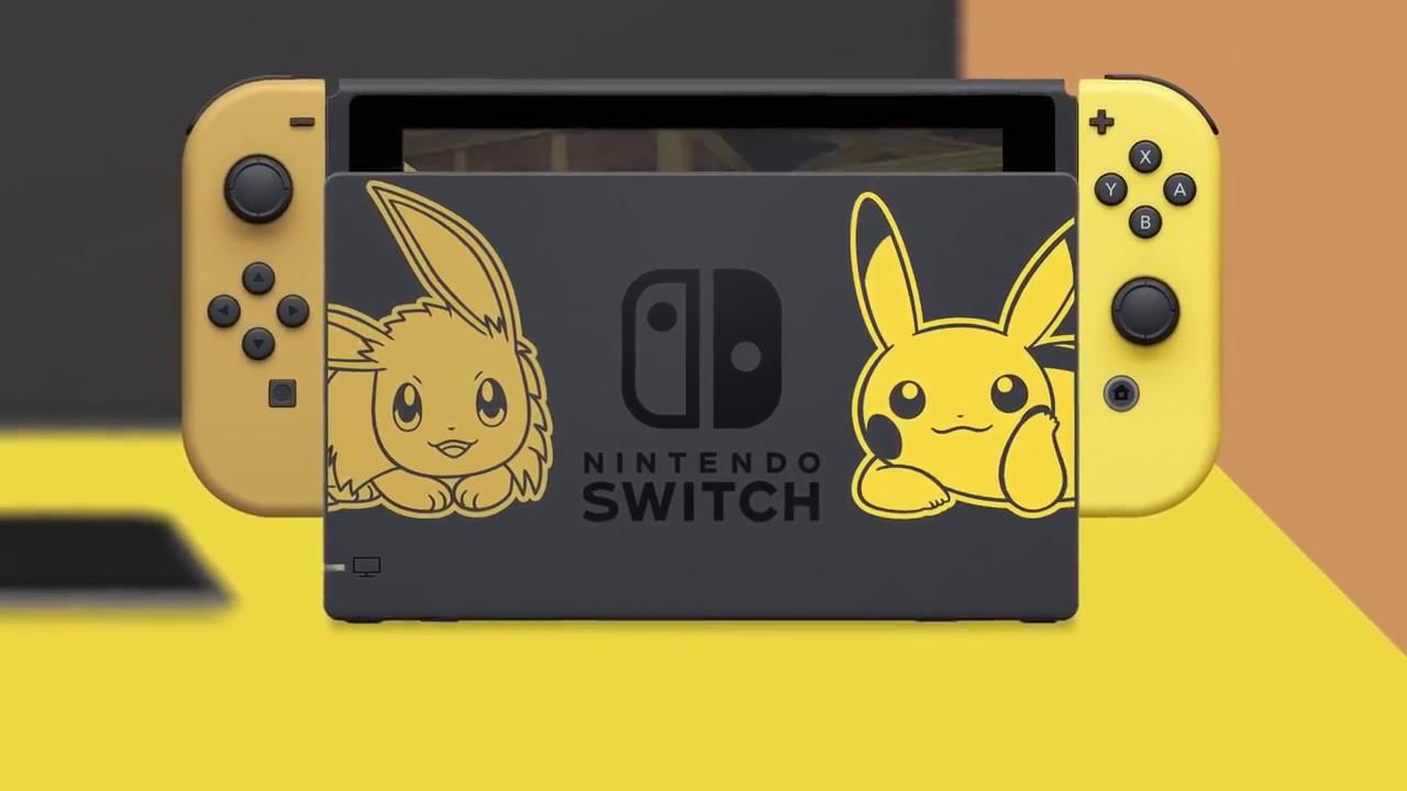 Máy Nintendo Switch bản đặc biệt Pikachu & Eevee sắp có tại nShop - YouTube