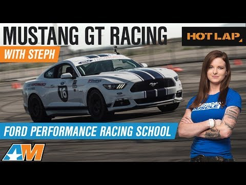 Steph Races Mustang GT at Ford Performance Racing School Track & Road Course - Hot Lap