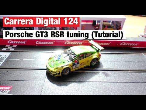 Porsche GT3 RSR tuning – Reifen, Leitkiel & Motor – Carrera Rennbahn Tagebuch #23 – Digital 132