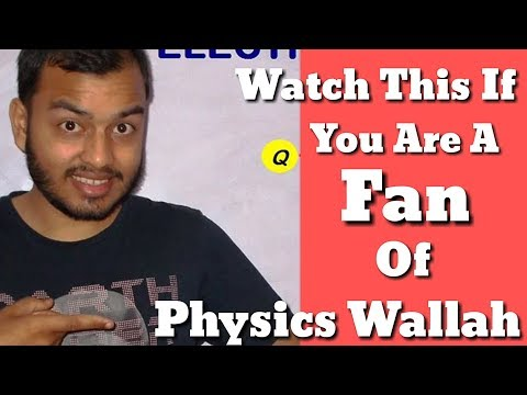 Tribute To Physics Wallah:Alakh Pandey Sir