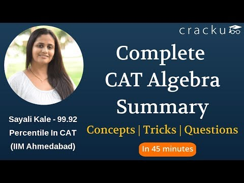 CAT Algebra Concepts, Questions & Tricks | Complete Summary