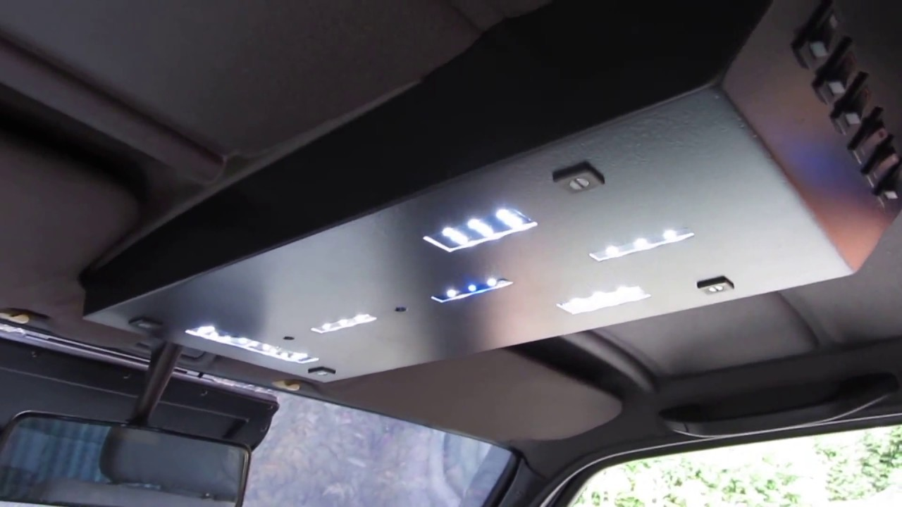 how to make a vw golf 2 vw jetta mk2 install led interior headliner lights 12v youtube. Black Bedroom Furniture Sets. Home Design Ideas