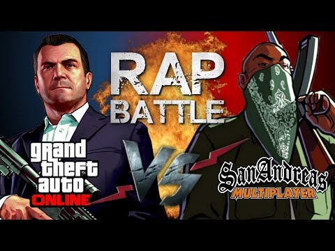 Рэп Баттл - Grand Theft Auto Online vs. San Andreas Multiplayer (GTA Online vs. SA-MP) thumbnail