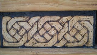 Celtic Knot On Wood