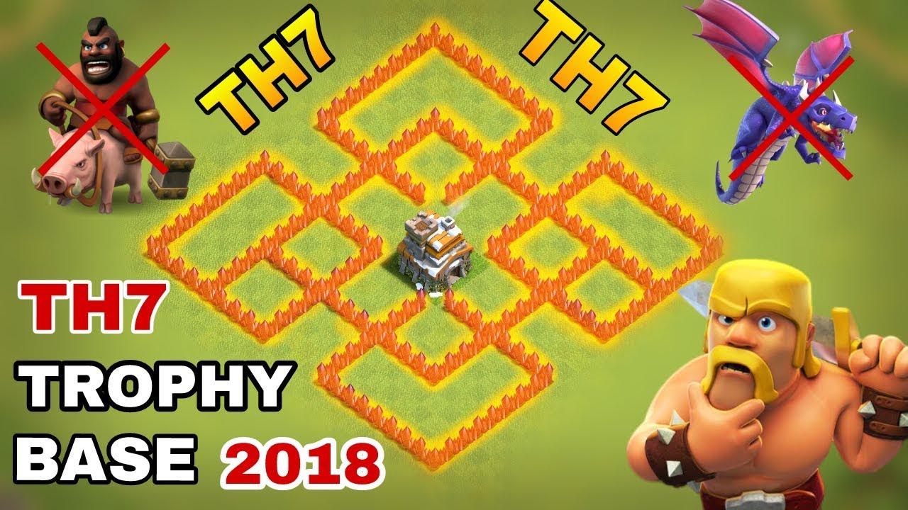 Th7 Farming Trophy War Base Anti 3 Star Base Anti Dragon