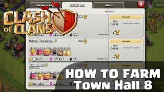 Clash of Clans - Best TH8 Farming Attack Strategy (Part 1)
