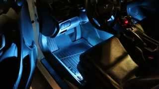 ijdmtoy 4pcs sound active led car interior lighting kit