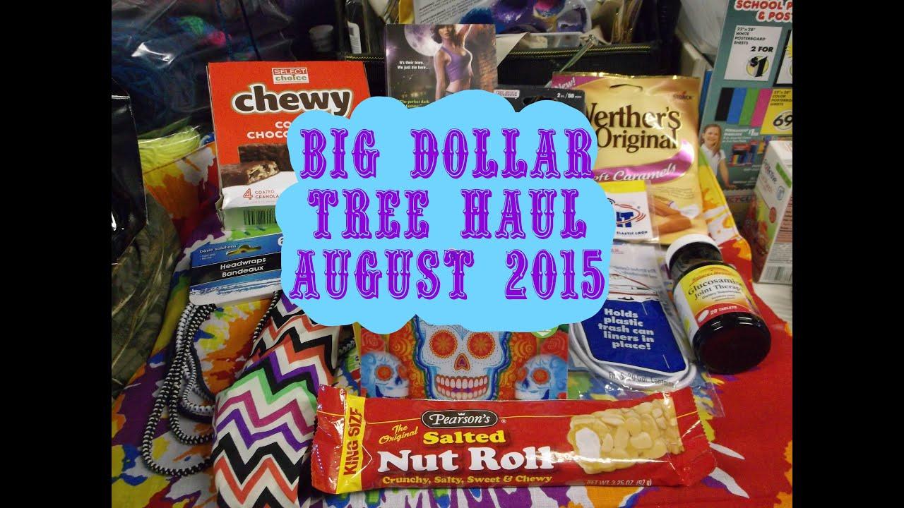 BIG DOLLAR TREE HAUL AUGUST 2015 - YouTube