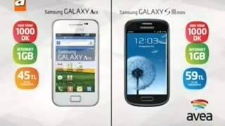 Avea 1000DK, 1GB Samsung Galaxy Ace 45 TL, Samsung S3 Mini 59 TL