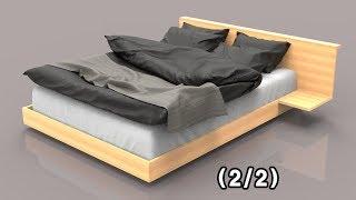 편백나무(히노끼) 퀸사이즈 침대 디자인하기(2/2) -…