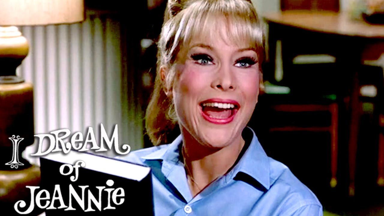 Tony Buys A Book To Help Jeannie With Her Magic | I Dream of Jeannie