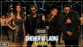Making Of Sheher Ki Ladki | Khandaani Shafakhana | Tanishk Bagchi, Badshah, Tulsi Kumar,  Diana P
