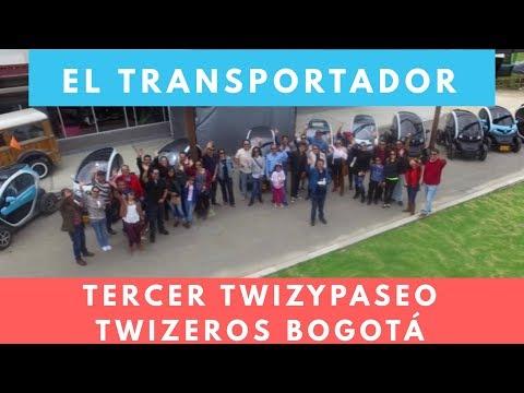 Tercer twizypaseo Parque El Transportador Bogotá- Third twizy ride tour El Transportador
