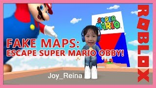 Pranked by Roblox fake map: Escape Super Mario Obby | Toy Joy Channel