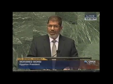Egyptian President Mohamed Morsi addressed the United Nations General Assembly. (September 26, 2012)