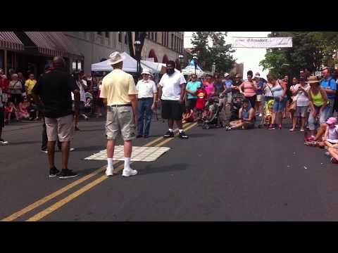 Ron dancing in the middle of Main Street, Bethlehem during Musikfest!