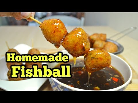 Fish Balls (Homemade) With Sauce