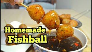 Homemade fish balls Philippines with Sauce