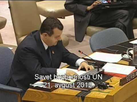 Ivica Dačić - SB UN (21. avgust 2012)
