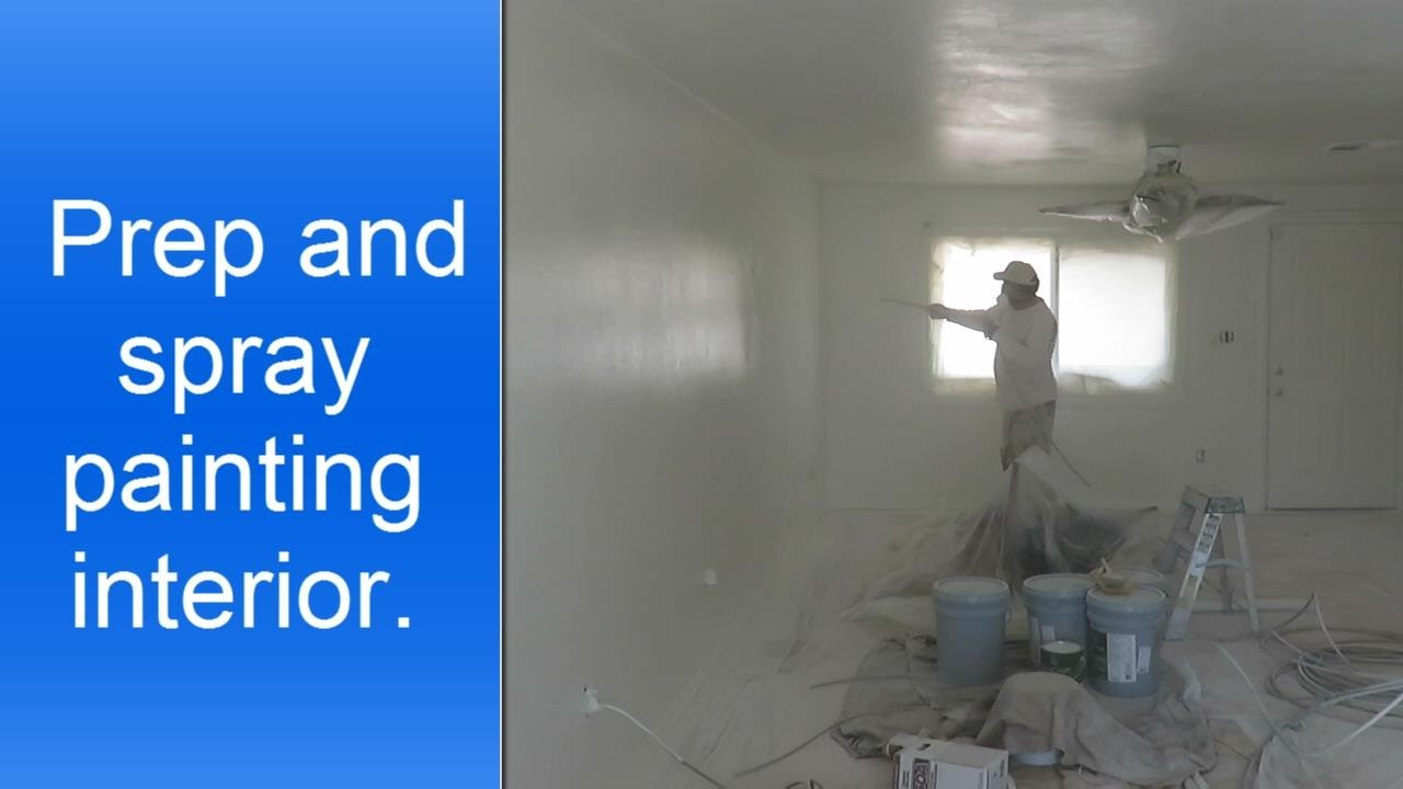 Spray Painting A House Interior.