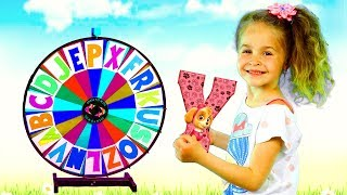 Alphabet magic spin with animation words #6 - Letters H, T, W, Y