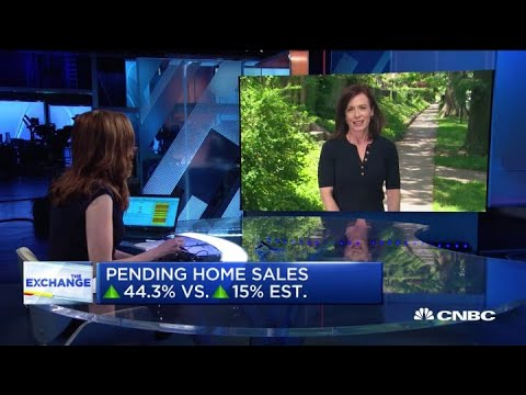 Pending home sales surge in largest month-over-month gain in 20 years