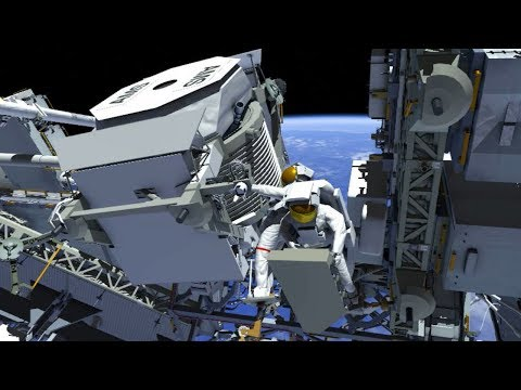 Animation of the First Expedition 61 AMS Spacewalk