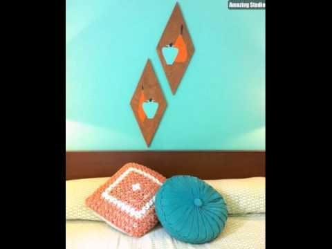 DIY Retro Wood Wall Art