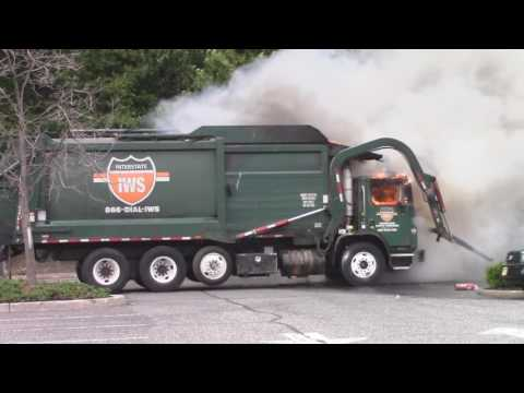 Woodridge, Nj Fire Department Operating At A Garbage Truck Fire Behind T.G.I Friday's On Route 17 So