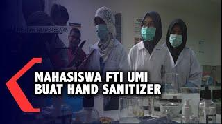Makassar, kompas.tv - dalam rangka mencegah penyebaran virus corona dan kelangkaan hand sanitizer dipasaran mahasiswa teknik kimia fakultas teknologi industr...