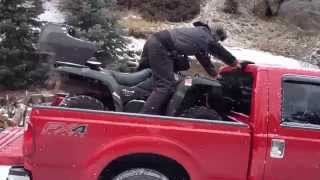 Billy demonstrating how NOT to load an ATV into a truck