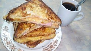 Как приготовить горячие бутерброды на сковороде, за 5 мин. быстрый завтрак (EN)