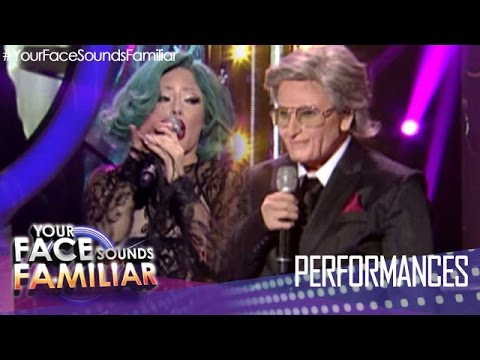 """Your Face Sounds Familiar: Denise Laurel As Lady Gaga And Tony Bennett - """"The Lady Is A Tramp"""""""