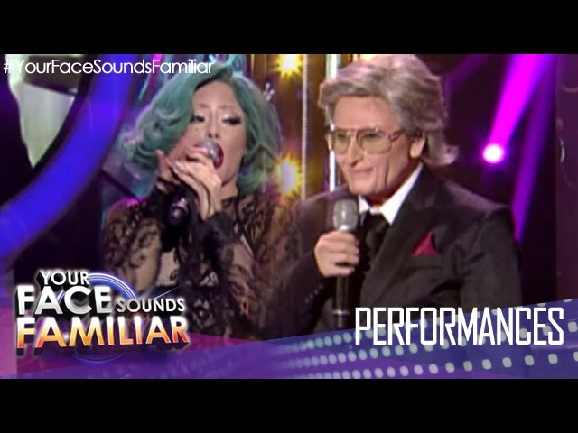 "Your Face Sounds Familiar: Denise Laurel as Lady Gaga and Tony Bennett - ""The Lady Is A Tramp"""