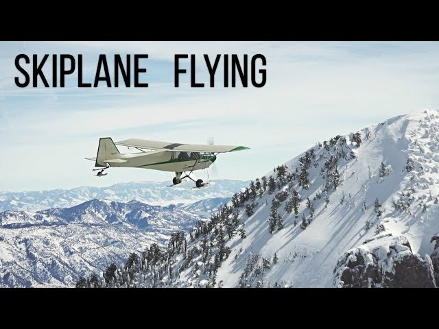 Ski plane Flying with Tom Simko from his mountain airstrip.