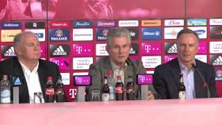 FC Bayern München - Abschlusspressekonferenz von Jupp Heynckes: Rückzug ja, Rücktritt nein!