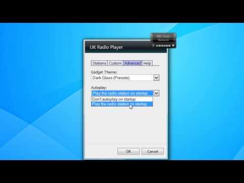 UK Radio Player Windows 7 Sidebar Gadget