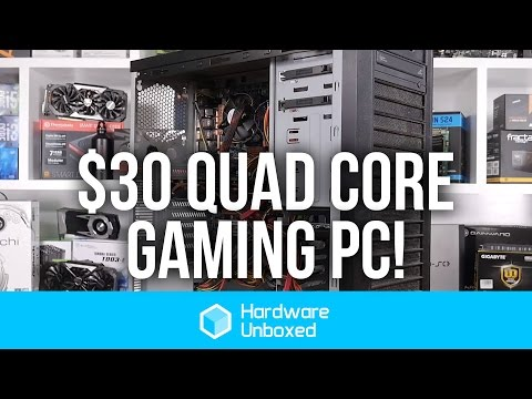 $30 Quad Core Gaming Computer: Benchmarks Dota 2, Overwatch, Rocket League & More!