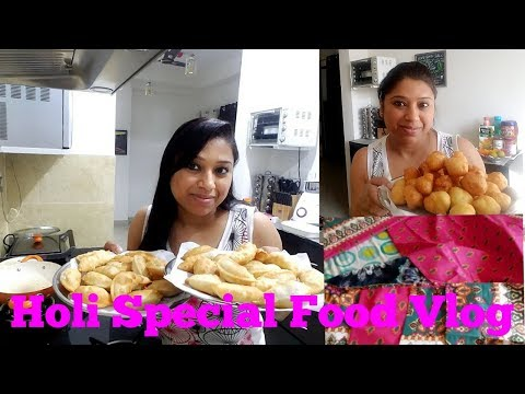 Holi Preparation Full Day VLOG : Making DAHI VADE & GUJIYA || Holi Special Food