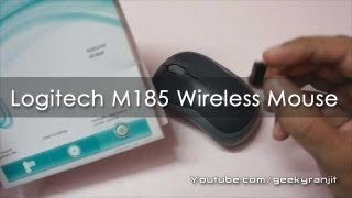 Logitech M185 a excellent affordable Wireless Mouse