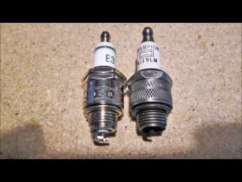 Briggs & Stratton 3 5 h p  wth new E3 sparkplug - YouTube