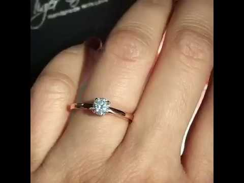 1 2 ct Solitaire Engagement Ring - Rose Gold - YouTube 98c338b2c
