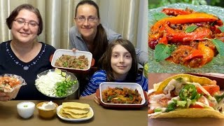 Mexican Food Pulled Pork Tacos And Refried Beans Recipe | Gay Family Mukbang (먹방) - Eating Show