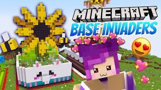 The CUTEST Minecraft Bases! - Base Invaders w/ LDShadowlady, Aphmau & LaurenZSide