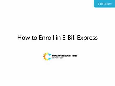 Tutorial: How to Enroll in E-Bill Express