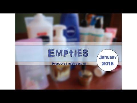 Empties || January 2018 ||