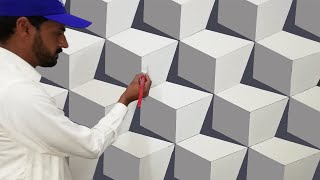 3d wall painting | 3d wall texture new design ideas | how to make 3d wall design | interior design