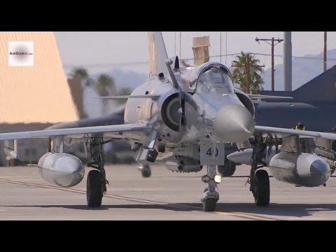 Colombian Air Force Kfir Jet Takeoff, Aerial Refuel