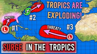 The Tropics Are Exploding... 3 Tropical Cyclones!